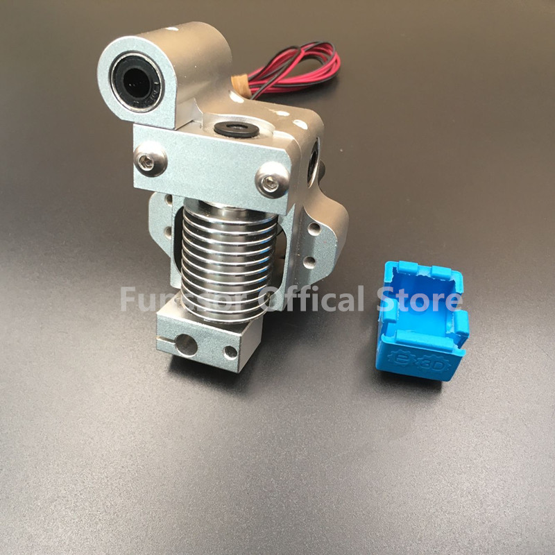 Funssor V6 hot end metal mount full assembly kit PT100 Version forDIY Ultimaker Original 3D printer With Silicone Insulation цена