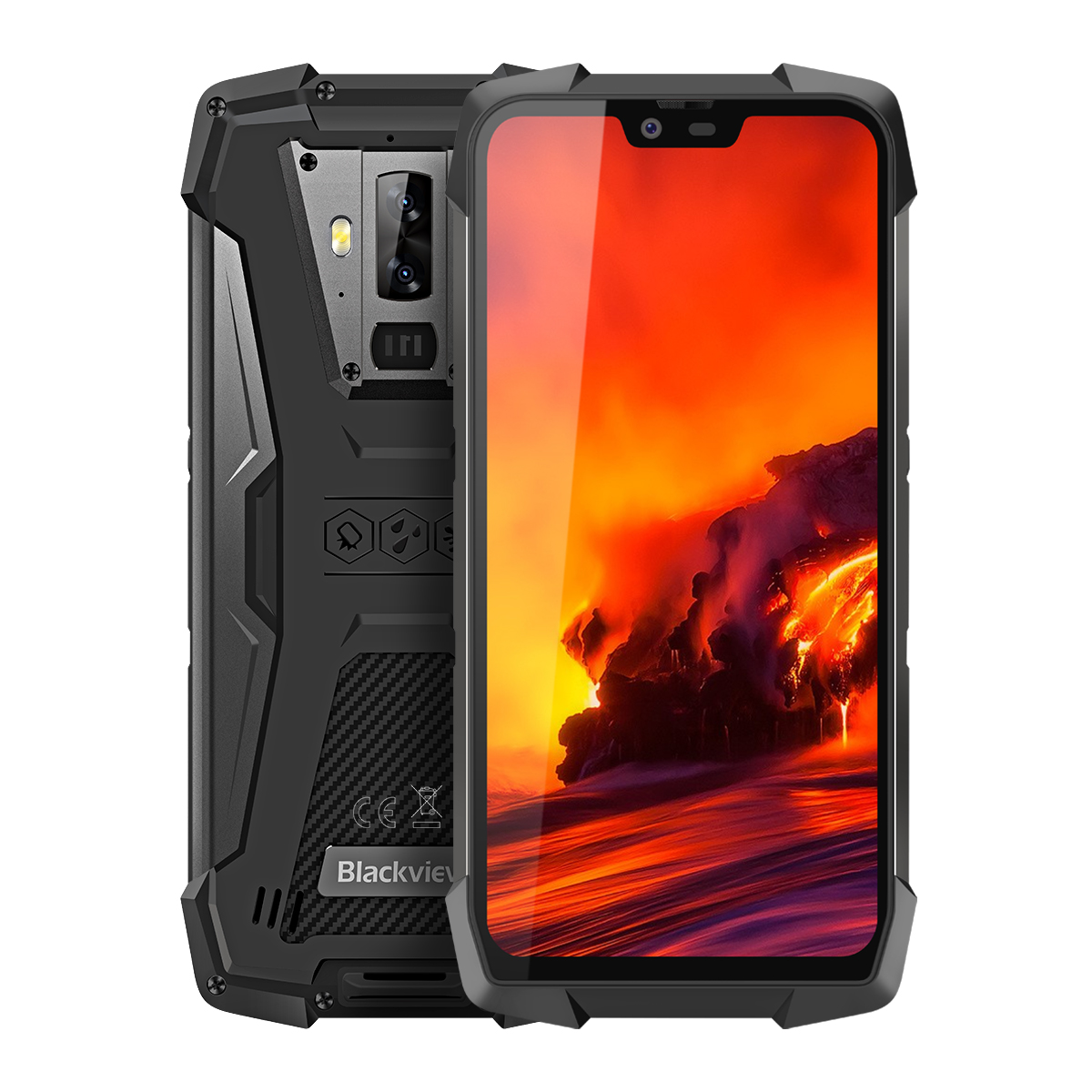 Téléphone portable robuste Blackview BV9700 Pro IP68/IP69K Helio P70 Octa core 6GB + 128GB 5.84