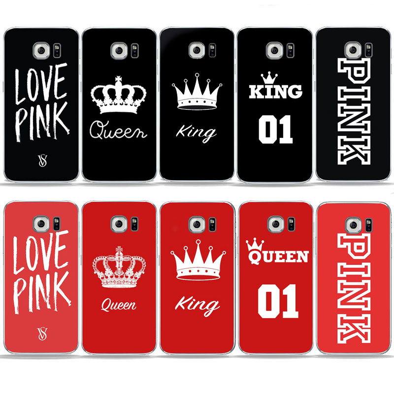 Hot Sale Quotes King Queen Love Pink Red Black Phone Case For