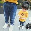 Мальчик Брюки Джинсы, 2017 Ребенок Ребенок Брюки Движение, случайные Дети Мальчиков Брюки Джинсы, осень Зима Весна Брюки Мальчиков Брюки