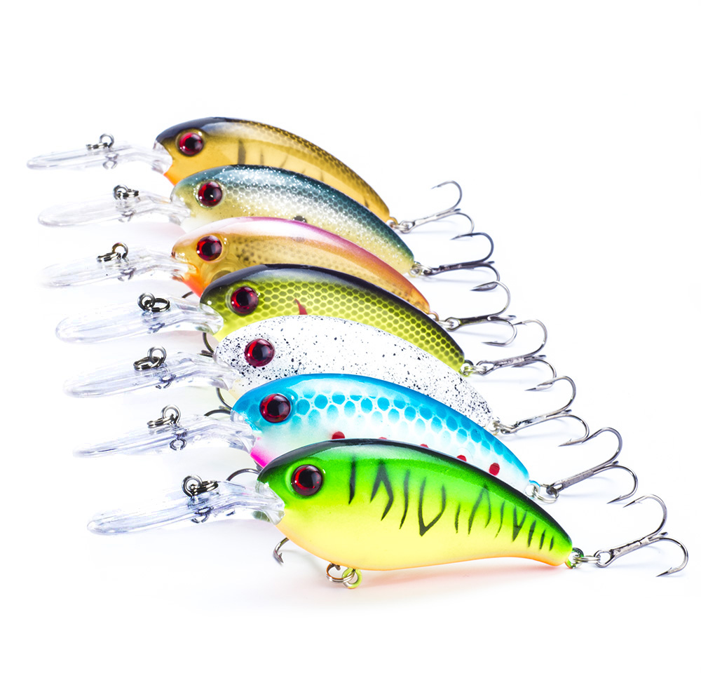 SEALURER Brand 7pcs wobbler crank fishing lure peche artificial bait 11cm/14g crankbait  Float jerkbait swimbait shad bait crankbait fishing lure 112mm 14g hard bait wobbler crank bait minnow lure 1 2 3 5m artifical peche with treble sharp hook