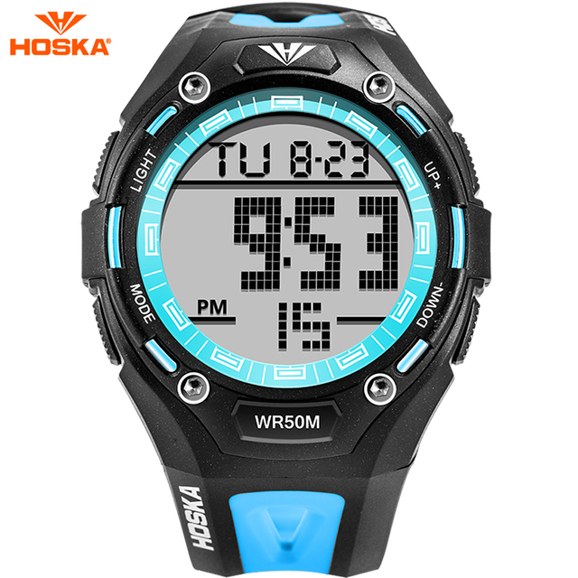 HOSKA Brand Fashion Casual Sports Watches Men s Shock Quartz WristWatch Analog Military LED Digital Watch for kids Montre Homme