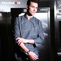 Marcas Checkedout Nueva gama Alta de Chef de Ropa Otoño/Invierno Vaquero Uniforme de Trabajo Largo y Grueso Hotel Catering Cocina UNIFORME del cocinero