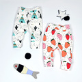 2016 Otoño Invierno de Algodón Fruta Bebé Recién Nacido Legging Pantalones de Harén Bebé Bebe Chicas Chicos Ropa Pantalones Envío Gratis