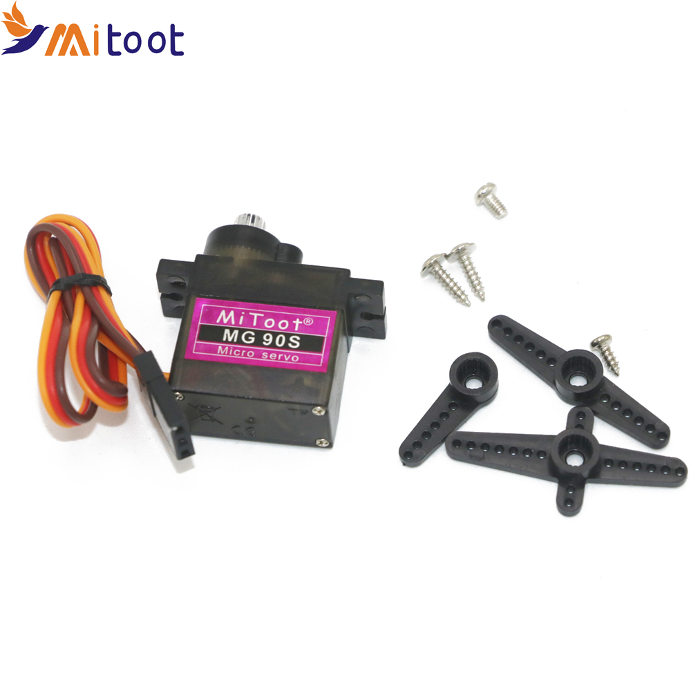 1pcs Mitoot MG90S 9g Metal Geared Micro Servo SG90 For RC Helicopter Airplane Car Boat