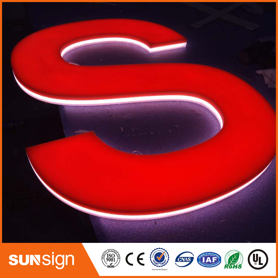 CE Approved Acrylic Mini Led Channel Letters Sign Used