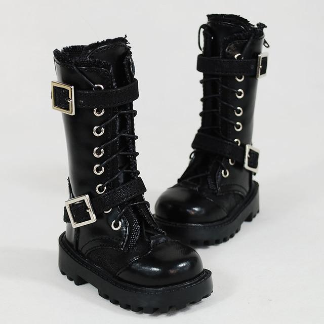70 cm 1/3 1/4 erkek çocuk SD AOD KÖPEK BJD MSD Dollfie Sentetik Deri PU ayakkabıları siyah çizmeler ayakkabı YG342