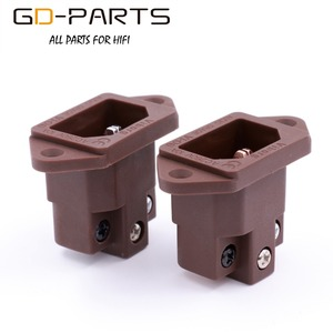 Image 5 - Viborg High End Pure Copper Power Socket IEC320 C14 3pin Male Power Plug Connector Power Cord Inlet Receptacle Gold Rhodium 1PC