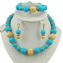 Африканские вечерние Ювелирные наборы, большое женское ожерелье, свадебные ювелирные изделия для невесты, модные комплекты украшений из бусин, большое ювелирное изделие из бисера, цветные наборы бусин