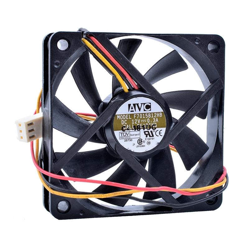 COOLING REVOLUTION F7015B12HB DC 12V 0.3A 7cm 7015 70mm fan Computer CPU cooler cooling fan original avc dv07020b12u 7020 70mm 7cm dc 12v 0 7a dual ball bearing fan server inverter cooling fan
