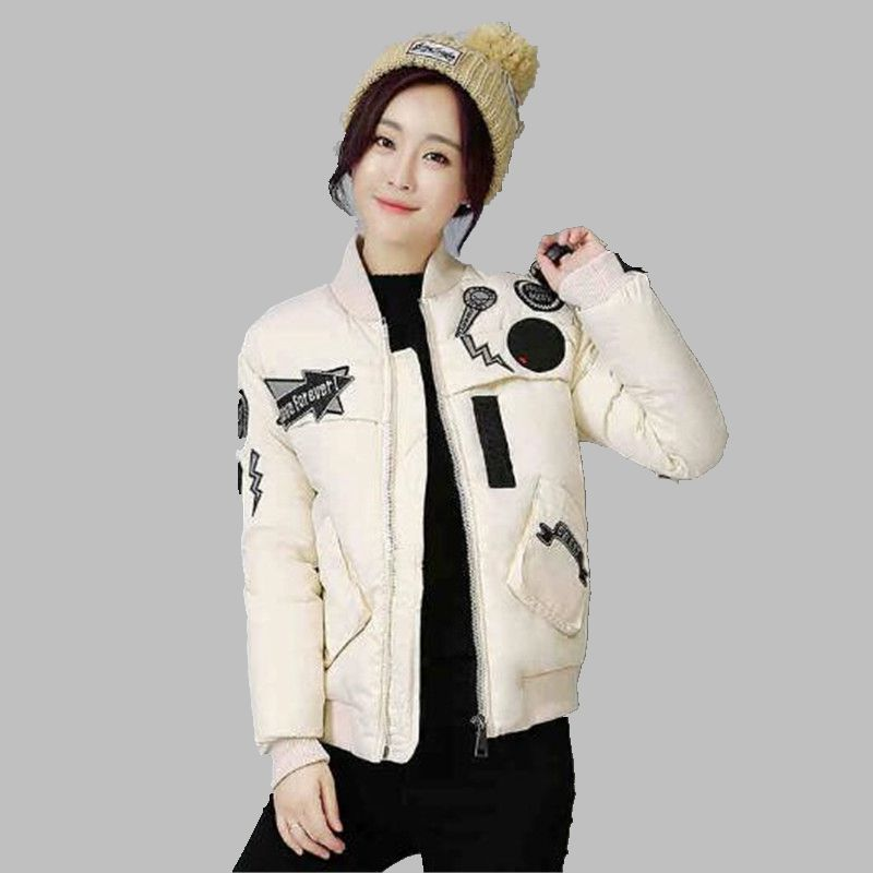 Female Winter Jacket Printed Cotton Short Jacket Latest Fashion Students Women Jacket Slim Large size Movement