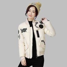 Female Winter Jacket Printed Cotton Short Jacket Latest Fashion Students Women Jacket Slim Large size Movement Down jacket G2807