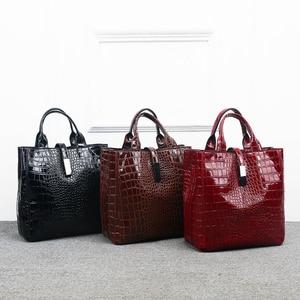 Image 5 - Новый роскошный костюм из 3 предметов, женская сумка, большая Вместительная женская сумка, ретро сумки на плечо, женская кожаная большая сумка тоут с сумкой через плечо