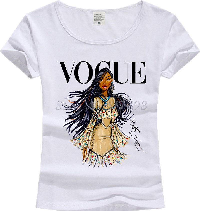 new casual t shirt vintage print women t shirt 2017 vogue. Black Bedroom Furniture Sets. Home Design Ideas