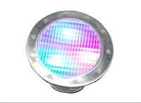 Acero inoxidable IP68 led bajo agua de mar de la lámpara AC / DC12v 3 w rgb led luz de grupo life > 50,000 hrs CE & ROHS max instalar profundidad de 20 m