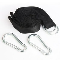 Essential Can Hold 200kg OutDoor Camping Hiking Hammock Hanging Belt Hammock Strap Rope With Metal Buckle