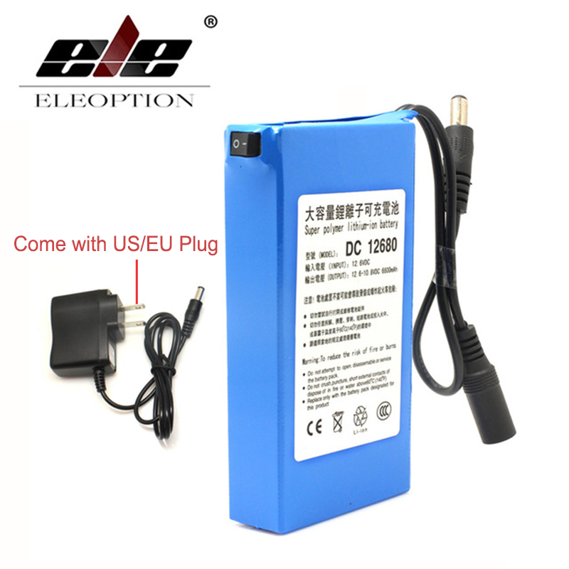 ELEOPTION New DC12680 6800mAh 12V Rechargeable Battery rechargeable batteries For wireless transmitters CCTV cameraELEOPTION New DC12680 6800mAh 12V Rechargeable Battery rechargeable batteries For wireless transmitters CCTV camera