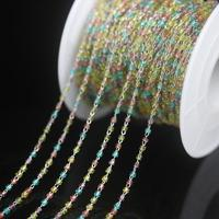 NEW! Mix Color Clear Miyuki Delica beads Stainless Steel Wire Wrapped Rosary Chain,Japanese seed beads Chains Necklace Jewelry