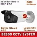 HIK $ NUMBER MP cámara del IP del POE con matriz de LED de INFRARROJOS de largo 50 m para uso Al Aire Libre impermeable IPC cámara web DS-2CD2T42WD-I5 reemplazar DS-2CD3T45-I5