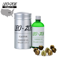 LEOZOE Pure Castor Oil Certificate Origin US Authentication High Quality Castor Essential Oil 100ML Huile Essentielle