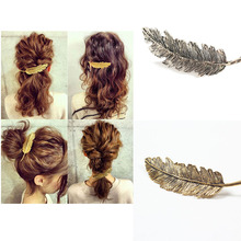 Fashion Korean Leaf Feather Shaped Women Hair Styling Barrettes Clips Hairpins For Girls Decorations Hairdress