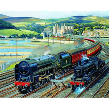 Retro train diamond Embroidery diy painting mosaic diamant 3d cross stitch pictures H718