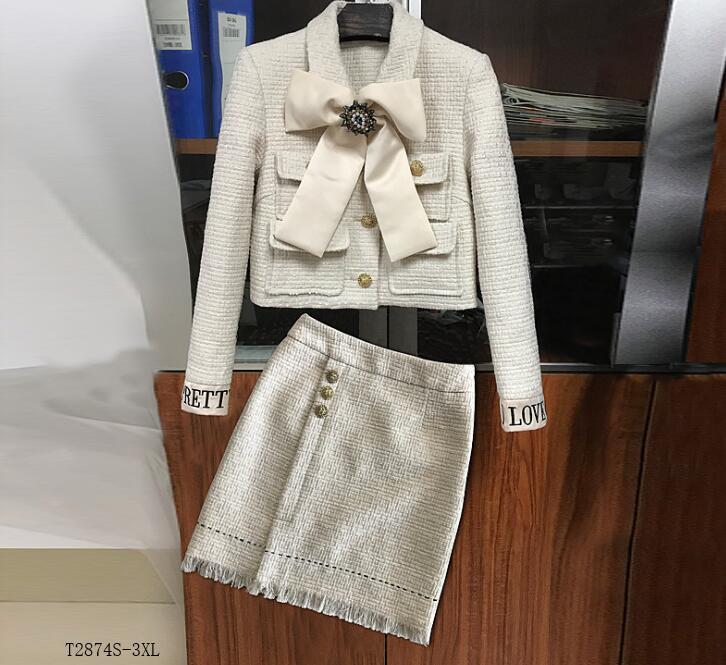 T2874 2019 Photo Casual Eurropean Style Tempérament Mode Femmes Patchwork Costume Hiver Cltohes Color Printemps Nouveautés 5x7xgB4