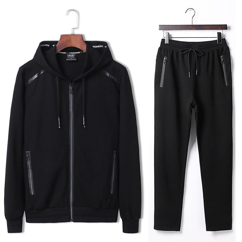 7XL 8XL 9XL Hoodies Set Mens Sport Suit Loose Big Size Sportsuit 2018 New Sportswear Gym Clothing Men Run Sets 140kg Can Wear  (1)
