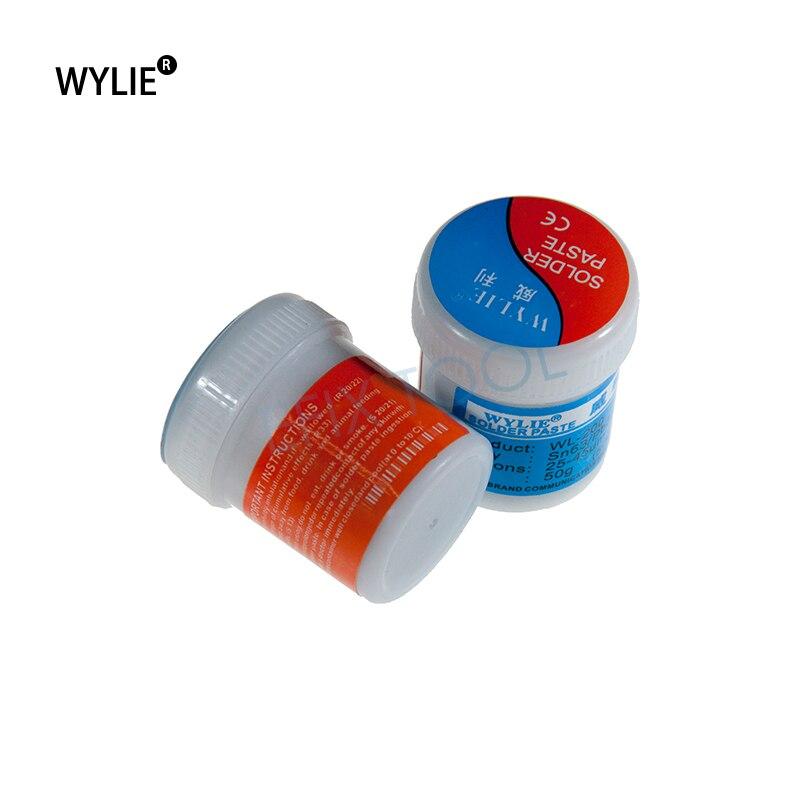 WYLIE 50g Solder paste flux Sn63 Pb37 WL-200 For Soldering iron rework station welding paste