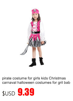 Halloween Costume For Kids Pirate Girls Boy Children Christmas Party Captain Pirates Caribbean Jack Sparrow Cosplay Carnival Home