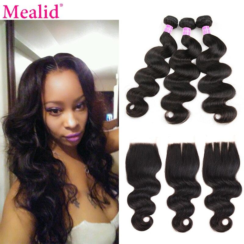 Mealid Brazilian Hair Weave Bundles Body Wave Bundles