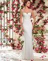Amdml Sereia Do Vestido de Casamento 2017 de Cristal Do Vintage Bordados Rendas Chiffon Bling Frisada Correias Querida Robe De Mariage vestido de Noiva