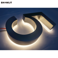 Brushed Steel Backlit LED External Sign Custom Made Available