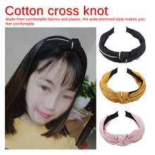 New Stripe Print Hairband Head Band Women Hair Hoop Cotton Cross Top Knot Bands Accessories Clothing