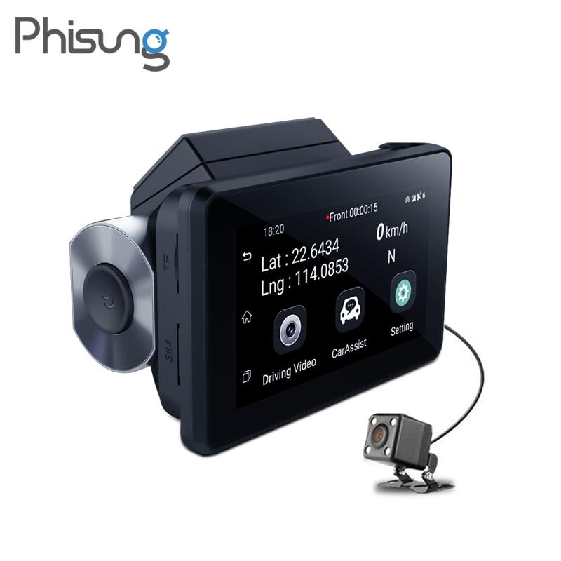 Phisung K9 dash cam pro 3G Car DVR with Android GPS log Dual Lens 1080p dash camera WIFI Car cam Video Registrar drive recorder|DVR/Dash Camera| |  - title=