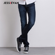 Jessie Van Men Jeans Casual Denim Pants Classic Whiskering Straight Jeans Masculina Male Denim Trousers Cotton