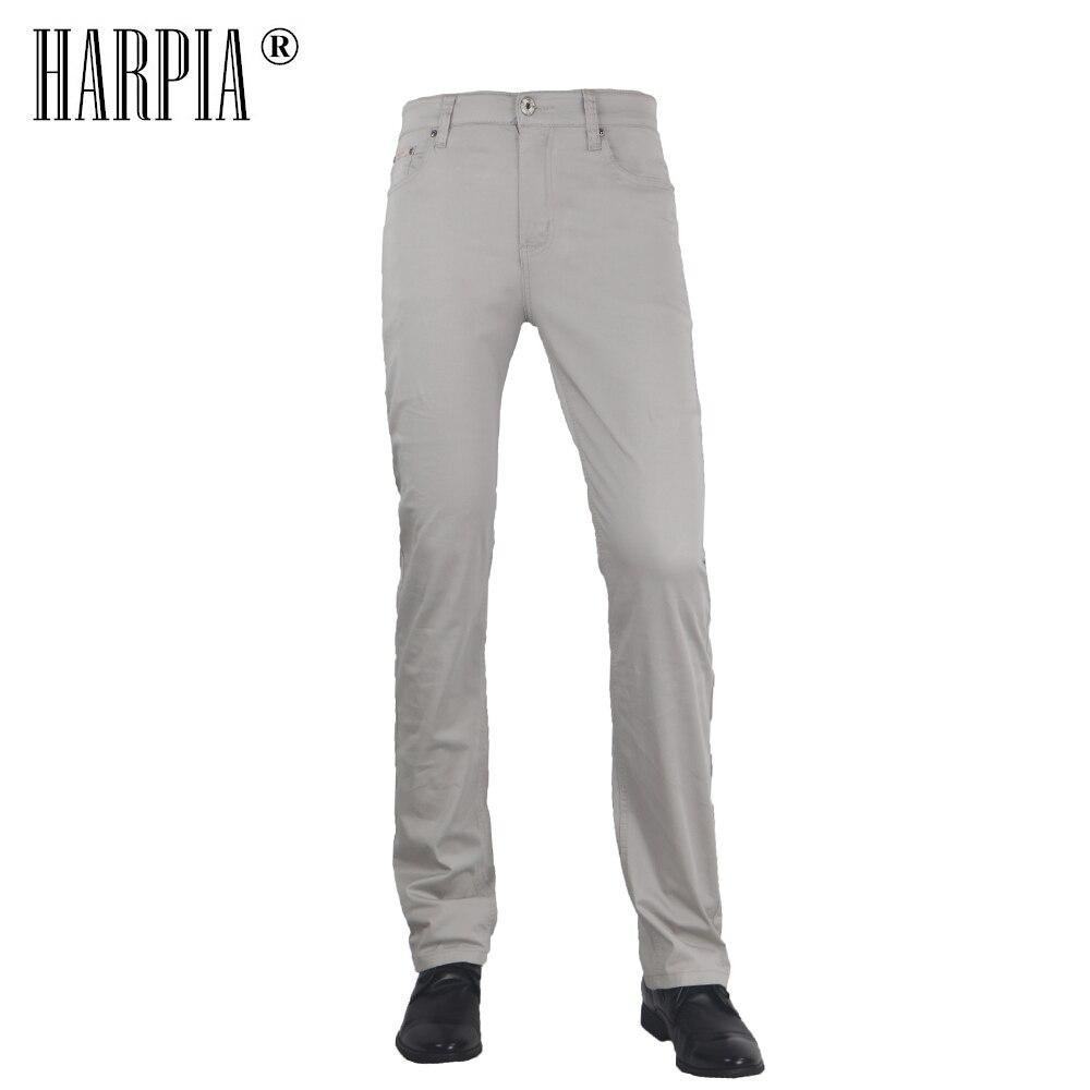 HARPIA été pantalon décontracté homme nouvelle mode kaki Slim mi-taille pleine pantalon droit mâle classique poche pantalon grande taille