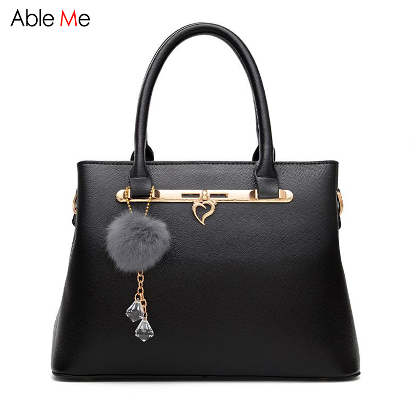 European Stylish Women Leather Handbags business OL Bag Fashion Shoulder Bag Hair Ball Female totes simple style office lady bag туфли samsung wins the ball 86a8032 2015 ol