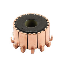 10mm Dia Shaft 12 Tooth Copper Shell Mounted On Electric Motor Armature Commutator