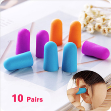 Mounchain 10 Pair Soft Ear Plugs Environmental Silicone Waterproof Dust-Proof Earplugs Diving Water Sports Swimming Accessories