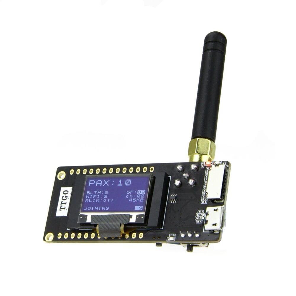 TTGO LoRa32 LoRa V2.1_1.6 version 433/868/915Mhz ESP32 OLED 0.96 Inch SD Card Bluetooth WIFI wireless Module ESP-32 SMA rfm01 433 868 915mhz