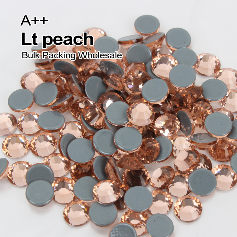 Wholesale Hotfix Rhinestones Lt peach SS6 SS30 High quality A++ Rhinestone Bulk Packing Used for Clothes accessories decoration