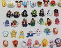 20pcs 100% different Mixed Cartoon star doll pendant 3-4cm Japanese Yokai watch Ultraman Dragon ball Z Princess Bear resin doll