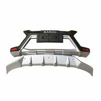 JIOYNG For Skoda KAROQ 2018 2019 Front + Rear Bumper Diffuser Bumpers Lip Protector Guard skid plate ABS 2PCS