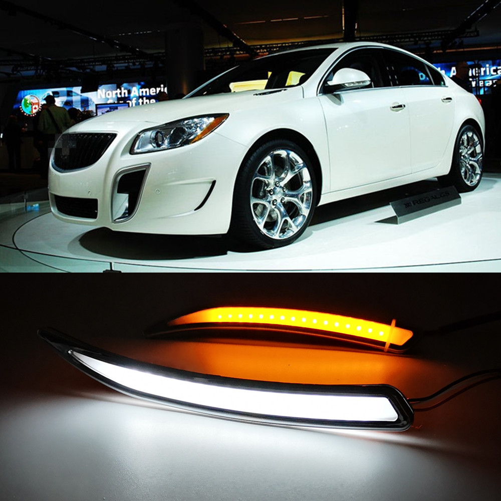 Car Flashing 2Pcs Car LED DRL For Buick Regal GS Opel Insignia 2010 2011 2012 2013