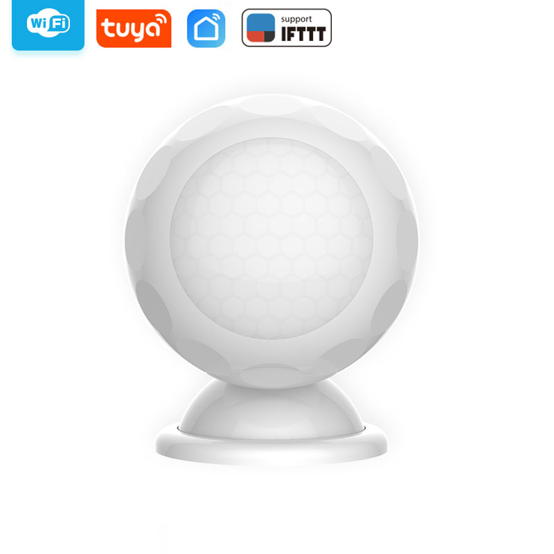 WiFi Smart PIR Motion Detection Sensor Wireless Home Alarm Detector Compatible With IFTTT Tuya Smart Life
