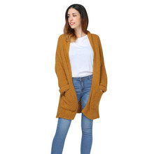 9125027838 Gamiss Women Cardigan Autumn Winter Knit Long Sleeve Sweater Batwing  Cardigan Open Front Curled Cardigans Loose