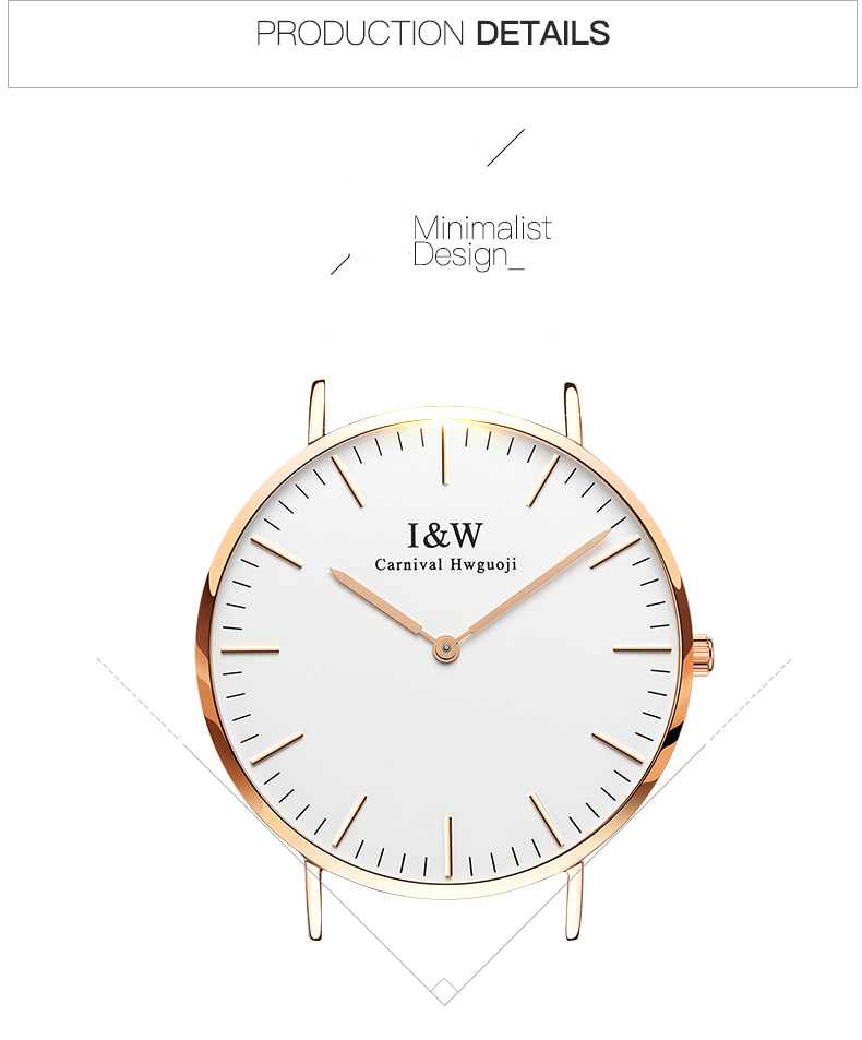 Multi-colored nylon strap with free sapphire Ultra Slim Men Casual Quartz watch Rose gold case Japanese movement Top Brand Clock