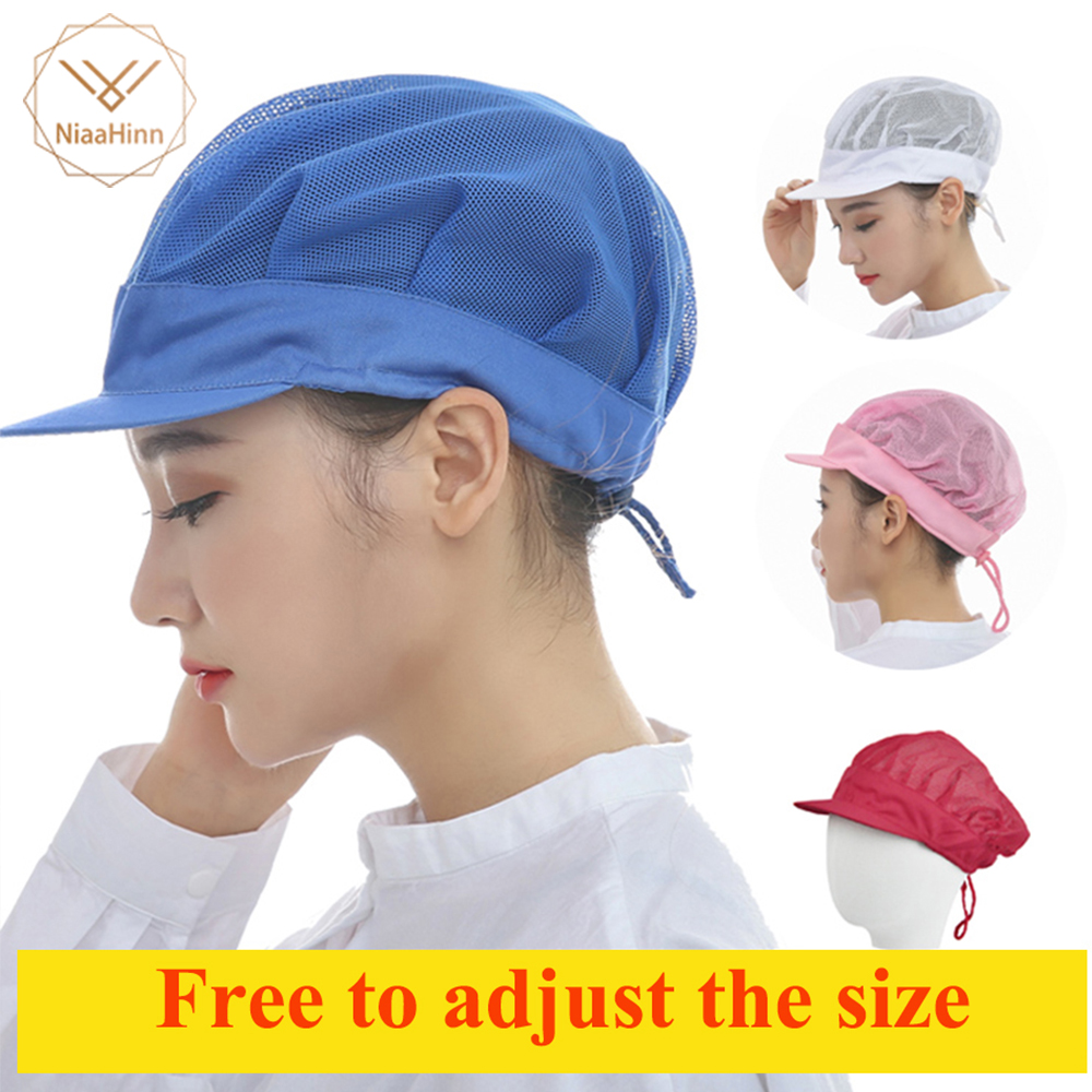 2018 Men's And Women's Dining Caps Catering Workshop Dust-proof Work Caps Protective Breathable Mesh Chef Hat Adjustable Size