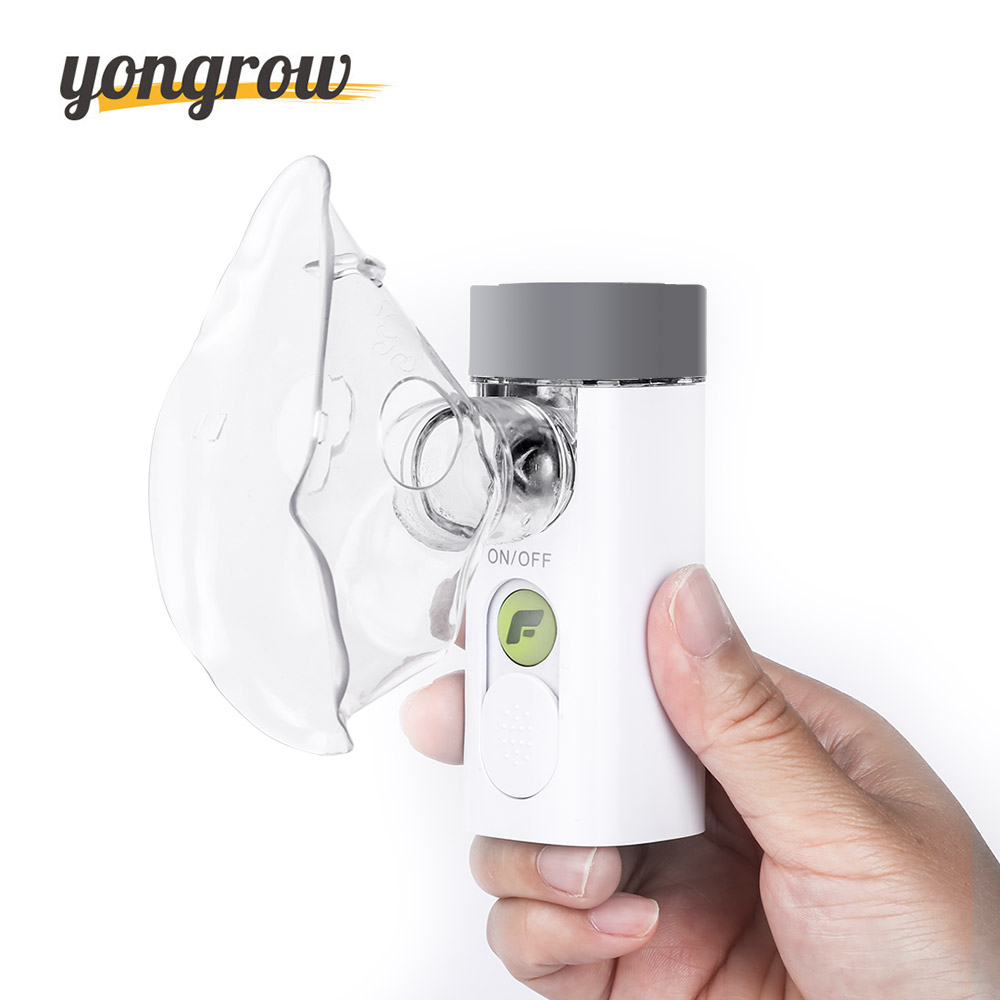 Yongrow Medical Nebulizer Handheld Asthma Inhaler Atomizer for children health care usb rechargeable mini Portable Nebulizer cofoe portable ultrasonic nebulizer medical home health care portable inhaler mini dolphins cartoon designed 2017 free shipping